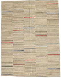 Kilim Moderno Tapete 183X240 Moderno Tecidos À Mão Cinzento Claro/Bege (Lã, Afeganistão)