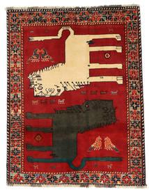 Ghashghai Figurativo/Imagens Tapete 133X172 Oriental Feito A Mão Castanho Alaranjado/Cinza Escuro (Lã, Pérsia/Irão)