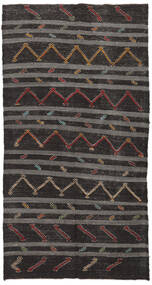 Kilim Semi-Antigo Turquia Tapete 174X337 Oriental Tecidos À Mão Castanho Escuro/Cinza Escuro (Lã, Turquia)