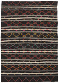 Kilim Semi-Antigo Turquia Tapete 235X334 Oriental Tecidos À Mão Preto/Castanho Escuro (Lã, Turquia)