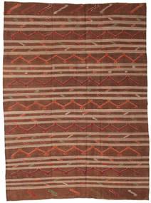 Kilim Semi-Antigo Turquia Tapete 244X333 Oriental Tecidos À Mão Castanho Escuro/Vermelho Escuro/Castanho (Lã, Turquia)