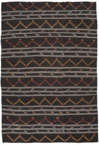 Kilim Semi-Antigo Turquia Tapete 247X363 Oriental Tecidos À Mão Castanho Escuro/Cinza Escuro (Lã, Turquia)