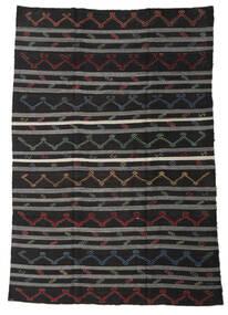 Kilim Semi-Antigo Turquia Tapete 245X340 Oriental Tecidos À Mão Preto/Cinza Escuro (Lã, Turquia)