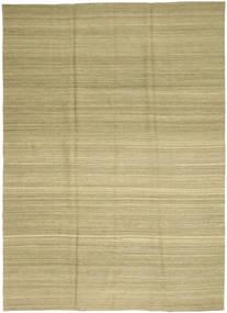 Kilim Moderno Tapete 208X282 Moderno Tecidos À Mão Verde Claro/Verde Azeitona (Lã, Afeganistão)