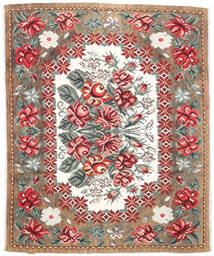 Kilim Rose Moldavia Tapete 177X213 Oriental Tecidos À Mão Castanho Claro/Castanho Escuro (Lã, Moldávia)