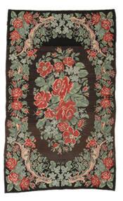 Kilim Rose Moldavia Tapete 161X263 Oriental Tecidos À Mão Tapete Passadeira Cinza Escuro/Verde Claro (Lã, Moldávia)