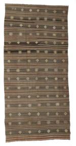 Kilim Semi-Antigo Turquia Tapete 172X357 Oriental Tecidos À Mão Castanho/Cinzento Claro (Lã, Turquia)