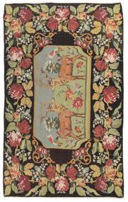 Kilim Rose Moldavia Tapete 178X295 Oriental Tecidos À Mão Cinza Escuro/Bege Escuro (Lã, Moldávia)