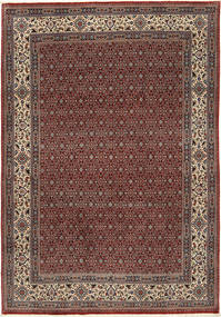 Moud Sherkat Farsh Tapete 201X292 Oriental Feito A Mão Vermelho Escuro/Cinza Escuro (Lã/Seda, Pérsia/Irão)