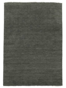 Handloom Fringes - Cinza Escuro Tapete 300X400 Moderno Cinza Escuro Grande (Lã, Índia)