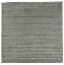 Handloom Fringes - Cinza Escuro Tapete 250X250 Moderno Quadrado Cinza Escuro Grande (Lã, Índia)
