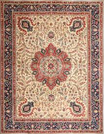 Tabriz Patina Tapete 305X390 Oriental Feito A Mão Castanho Claro/Bege Grande (Lã, Pérsia/Irão)