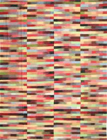Kilim Moderno Tapete 305X397 Moderno Tecidos À Mão Bege Escuro/Vermelho Escuro Grande (Lã, Afeganistão)
