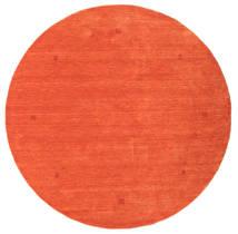 Loribaf Loom Tapete Ø 202 Moderno Feito A Mão Redondo Laranja/Vermelho (Lã, Índia)