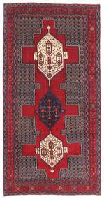 Senneh Patina Tapete 145X299 Oriental Feito A Mão Castanho Escuro/Vermelho (Lã, Pérsia/Irão)