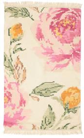 Kilim Karabakh Sofia - Bege/Off-Branco Tapete 100X160 Moderno Tecidos À Mão Bege/Luz Rosa (Lã, Índia)