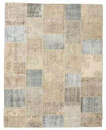 Patchwork Tapete 238X300 Moderno Feito A Mão Cinzento Claro/Bege (Lã, Turquia)