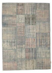 Patchwork Tapete 174X240 Moderno Feito A Mão Cinzento Claro (Lã, Turquia)