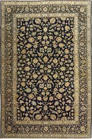 Kashan Patina Tapete 255X385 Oriental Feito A Mão Preto/Castanho Claro Grande (Lã, Pérsia/Irão)
