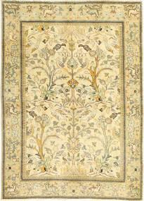 Tabriz Patina Tapete 100X140 Oriental Feito A Mão Bege/Bege Escuro/Verde Claro (Lã, Pérsia/Irão)