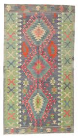 Kilim Semi-Antigo Turquia Tapete 150X273 Oriental Tecidos À Mão Verde Claro/Castanho Escuro (Lã, Turquia)