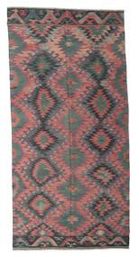 Kilim Semi-Antigo Turquia Tapete 168X345 Oriental Tecidos À Mão Cinza Escuro/Castanho Escuro (Lã, Turquia)