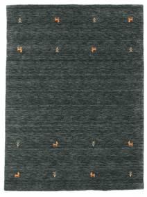 Gabbeh Loom Two Lines - Cinza Escuro/Verde Tapete 140X200 Moderno Preto/Cinza Escuro/Verde Escuro (Lã, Índia)