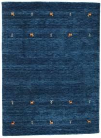 Gabbeh Loom Two Lines - Azul Escuro Tapete 140X200 Moderno Azul Escuro (Lã, Índia)