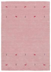 Gabbeh Loom Two Lines - Rosa Tapete 160X230 Moderno Luz Rosa (Lã, Índia)