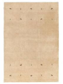 Gabbeh Loom Two Lines - Bege Tapete 160X230 Moderno Bege Escuro/Castanho Claro/Amarelo (Lã, Índia)