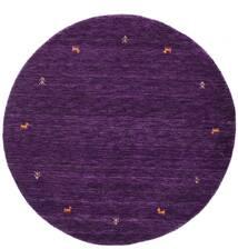 Gabbeh Loom Two Lines - Roxo Tapete Ø 150 Moderno Redondo Porpora Escuro (Lã, Índia)