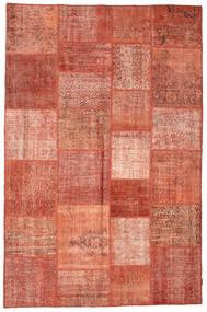 Patchwork Tapete 196X301 Moderno Feito A Mão Vermelho/Vermelho Escuro (Lã, Turquia)