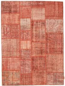 Patchwork Tapete 170X231 Moderno Feito A Mão Luz Rosa/Vermelho (Lã, Turquia)