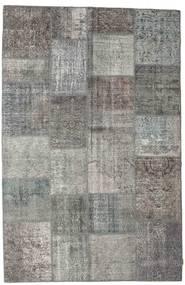 Patchwork Tapete 197X303 Moderno Feito A Mão Cinza Escuro/Cinzento Claro (Lã, Turquia)
