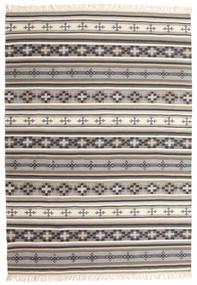 Kilim Cizre Tapete 160X230 Moderno Tecidos À Mão Cinzento Claro/Bege (Lã, Índia)
