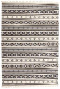 Kilim Cizre Tapete 190X290 Moderno Tecidos À Mão Cinzento Claro/Bege (Lã, Índia)
