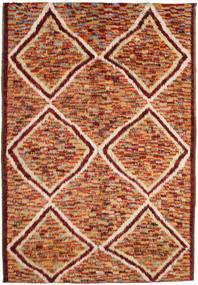 Barchi/Moroccan Berber Tapete 197X292 Moderno Feito A Mão Vermelho Escuro/Vermelho (Lã, Afeganistão)