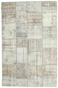 Patchwork Tapete 196X302 Moderno Feito A Mão Cinzento Claro/Bege (Lã, Turquia)