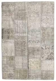 Patchwork Tapete 158X232 Moderno Feito A Mão Cinzento Claro (Lã, Turquia)