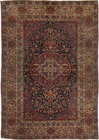Isfahan Antigo Tapete 147X215 Oriental Feito A Mão Vermelho Escuro/Castanho Escuro (Lã, Pérsia/Irão)