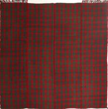 Kilim Moderno Tapete 195X208 Moderno Tecidos À Mão Quadrado Vermelho Escuro/Verde Escuro (Lã, Pérsia/Irão)