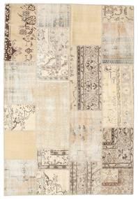 Patchwork Tapete 159X232 Moderno Feito A Mão Bege/Cinzento Claro (Lã, Turquia)