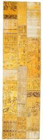 Patchwork Tapete 81X299 Moderno Feito A Mão Tapete Passadeira Castanho Claro/Amarelo (Lã, Turquia)