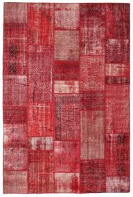 Patchwork Tapete 201X305 Moderno Feito A Mão Vermelho/Castanho Alaranjado (Lã, Turquia)