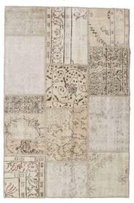 Patchwork Tapete 122X185 Moderno Feito A Mão Cinzento Claro/Branco/Creme (Lã, Turquia)