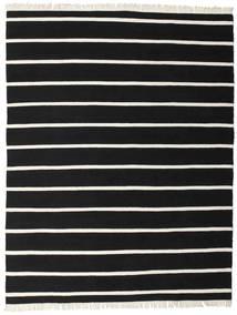 Dhurrie Stripe - Preto/Branco Tapete 200X250 Moderno Tecidos À Mão Preto (Lã, Índia)
