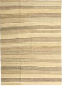 Kilim Moderno Tapete 165X235 Moderno Tecidos À Mão Bege/Bege Escuro (Lã, Pérsia/Irão)