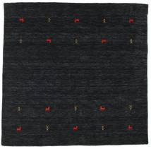 Gabbeh Loom Two Lines - Preto/Cinzento Tapete 200X200 Moderno Quadrado Preto (Lã, Índia)
