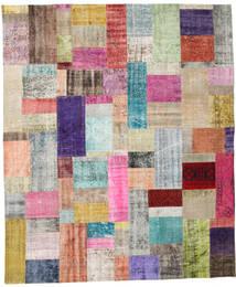 Patchwork Tapete 252X302 Moderno Feito A Mão Cinzento Claro/Luz Rosa Grande (Lã, Turquia)