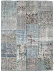Patchwork Tapete 171X230 Moderno Feito A Mão Cinzento Claro/Azul Turquesa/Verde Claro (Lã, Turquia)